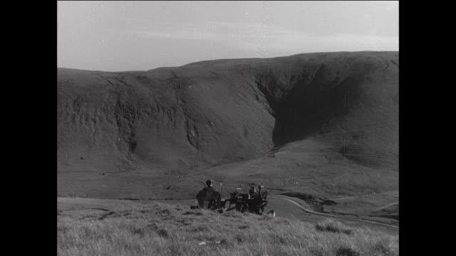 montage farmer plowing field on tractor / aberystwyth, wales - aberystwyth stock videos & royalty-free footage