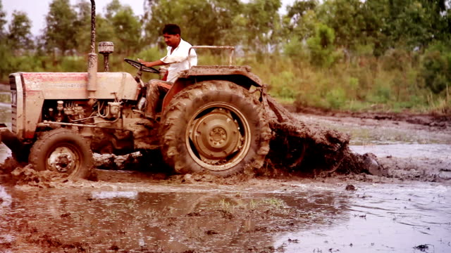 farmer plowing field - harrow agricultural equipment stock videos & royalty-free footage