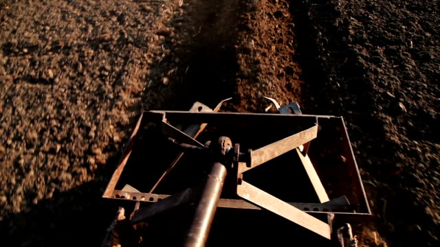 farmer riding tractor in the field - tractor stock videos & royalty-free footage