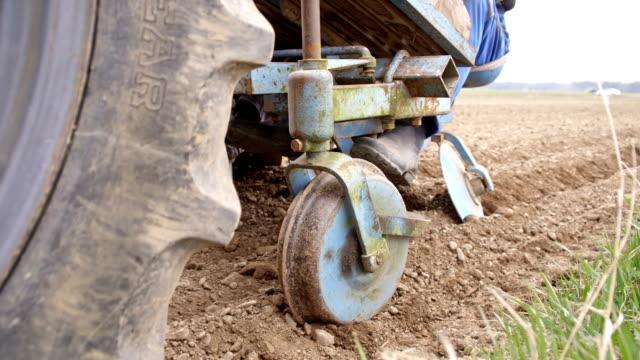 vidéos et rushes de agriculteurs de semer les pommes de terre - pomme de terre rouge