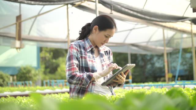 vidéos et rushes de l'agriculteur utilise un ordinateur tablette sur - 10 seconds or greater