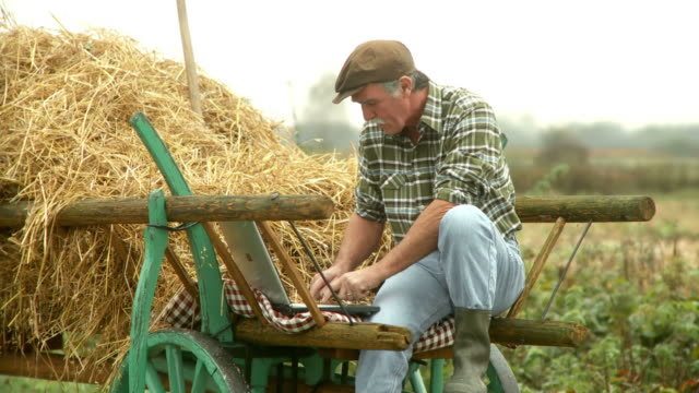 HD: Farmer Using Laptop