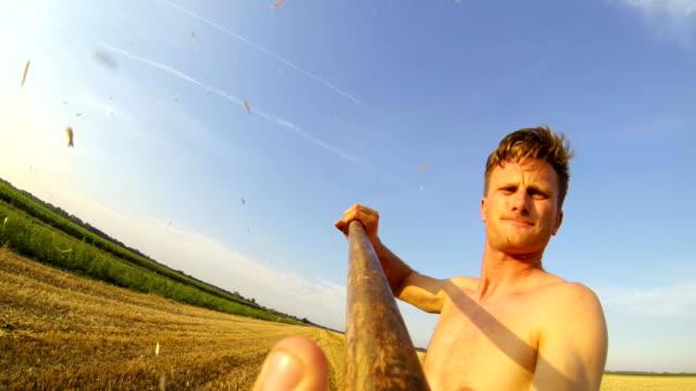 stockvideo's en b-roll-footage met pov farmer working on a field - aanhangwagen