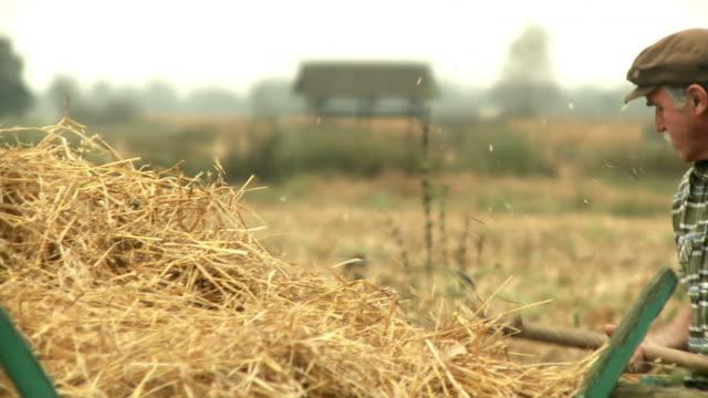 hd: farmer working - farmer hay stock videos & royalty-free footage