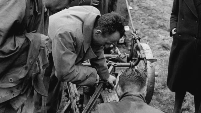 1942 montage farmers learning new farming methods at wartime demonstrations by scientists / united kingdom - 1942 stock videos & royalty-free footage