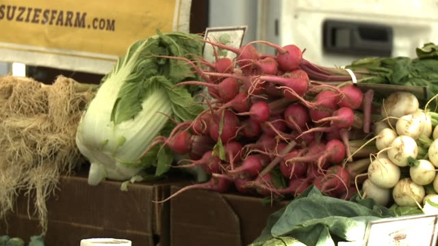 farmer's market in california on april 09 2013 in san diego california - organic farm stock videos & royalty-free footage