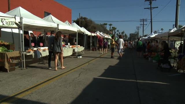 farmer's market in california on april 09, 2013 in san diego, california - organic farm stock videos & royalty-free footage