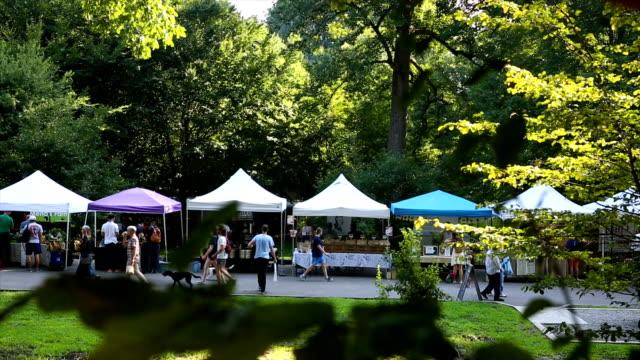 farmers market in grant park - atlanta georgia stock videos & royalty-free footage