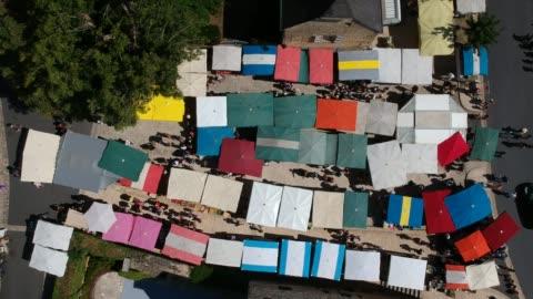 farmer's market in saint-geniès, dordogne, france - french culture stock videos & royalty-free footage