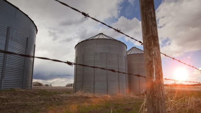 Farming grain bins