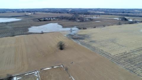 farmland after rain in hebron illinois - illinois stock videos & royalty-free footage