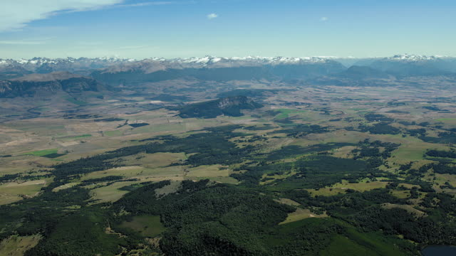 farmland and distant mountains in chile - patagonia chile stock videos and b-roll footage