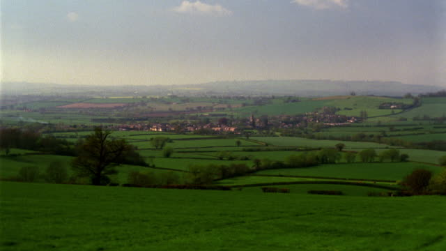 t/l, ws, farmland, long compton, england - oxfordshire stock videos and b-roll footage