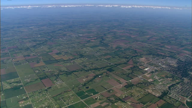 farmland surrounds wichita, kansas. - kansas stock videos & royalty-free footage