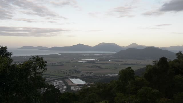 Farmlands are seen at dusk in Cairns Australia on Monday July 31 2017