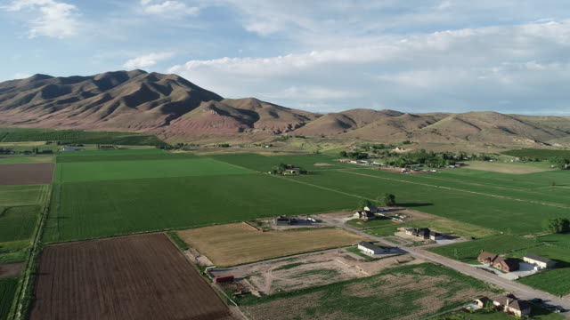 farms and farmland in rural western usa - utah stock videos & royalty-free footage