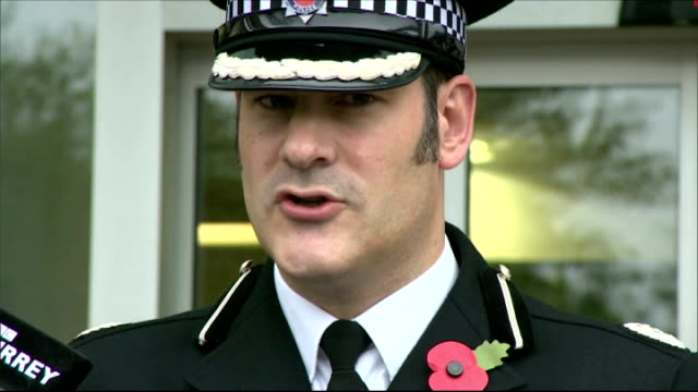 john lowe found guilty of murder guildford assistant chief constable stuart cundy speaking to press sot decision to return the shotguns was flawed... - guildford stock videos and b-roll footage