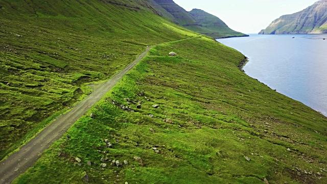 faroean roads in streymoy - faroe island - atlantic ocean stock videos & royalty-free footage