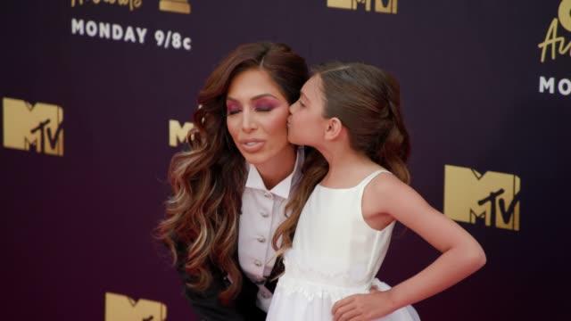Farrah Abraham and Sophia Abraham at 2018 MTV Movie TV Awards Arrivals at Barker Hangar on June 16 2018 in Santa Monica California