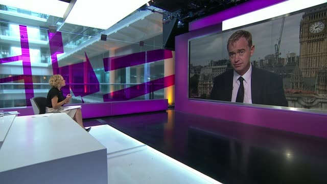 farron avoiding comments on homosexual sex conflict between religious and political beliefs t17071551 london gir / westminster int cathy newman... - cathy newman stock-videos und b-roll-filmmaterial