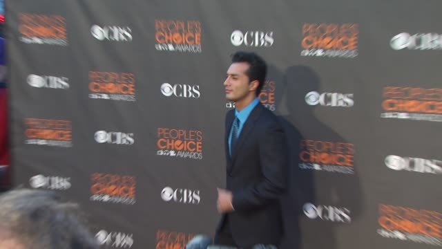 farzan athari at the 36th annual people's choice awards at los angeles ca. - people's choice awards stock videos & royalty-free footage