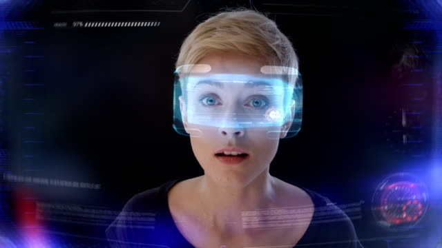 affascinante realtà virtuale - futuristico video stock e b–roll