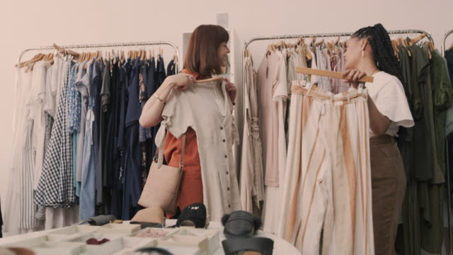 fashion advice tailored to her own personal taste - tailored clothing stock videos & royalty-free footage