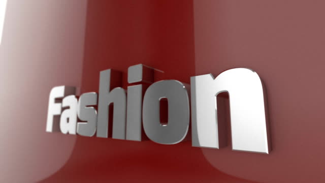 Fashion, animated 3D Text
