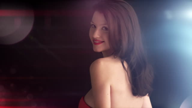 fashion beauty unzipping red dress. - desire stock videos & royalty-free footage