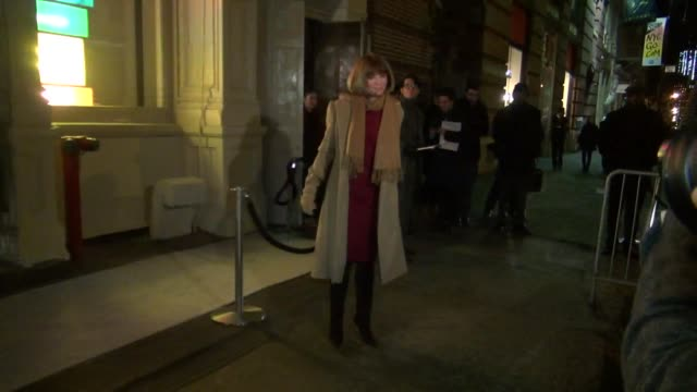 fashion critic anna wintour arrives at the new stella mccartney soho store opening celebration 01/09/12 in celebrity sightings in new york - critic stock videos & royalty-free footage