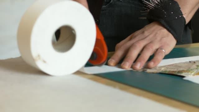 Fashion Designer Cutting Sewing Pattern