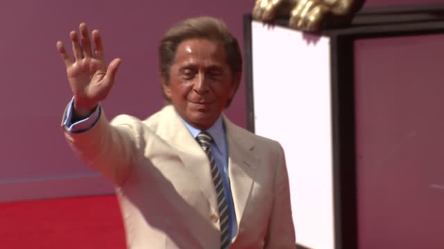 fashion designer valentino at the 65th venice film festival - valentino the last emperor red carpet arrivals and interviews at venice . - valentino designer label stock videos & royalty-free footage