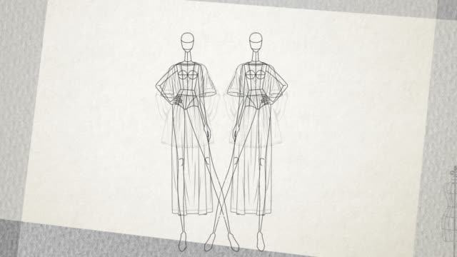 fashion doll - simple - animation of a mannequin clothes stand - catwalk stock videos & royalty-free footage