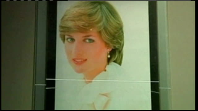 dress worn by princess diana on sale at auction blouse worn by diana on display image of diana wearing blouse on wall sketches of diana's wedding... - blouse stock videos & royalty-free footage