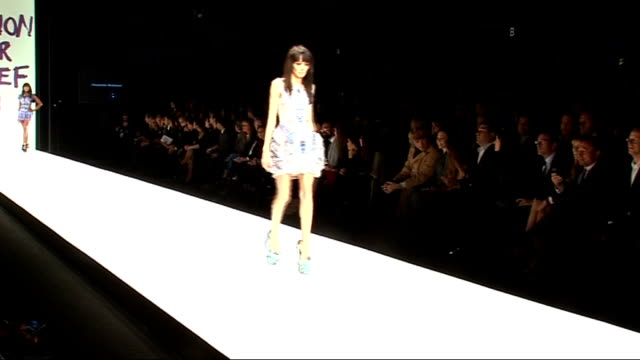 fashion for relief show in aid of haitian earthquake victims; england: london: int england: london: somerset house: int ** beware flash photography... - black dress stock videos & royalty-free footage
