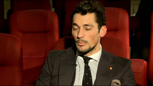vídeos y material grabado en eventos de stock de model david gandy launches blue steel appeal: interviews; england: london: int david gandy interview sot - on his collaboration with red nose day... - red nose day