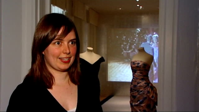 princess diana fashion show; interview with exhibition curator sot - curator stock videos & royalty-free footage