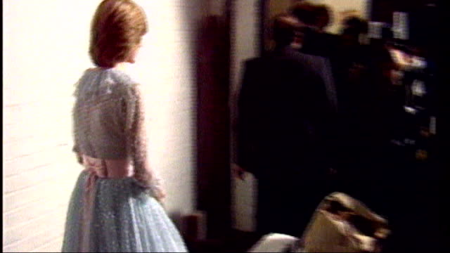 princess diana fashion show princess diana along past press in pale blue ballgown june 1994 princess of wales arriving for function in short black... - fashion collection stock videos & royalty-free footage