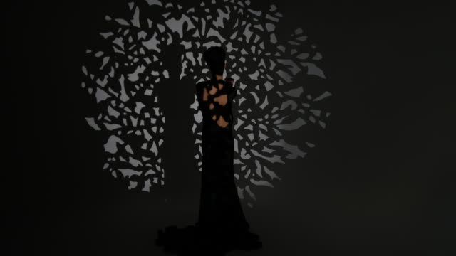 fashion shooting in film studio - black dress stock videos & royalty-free footage