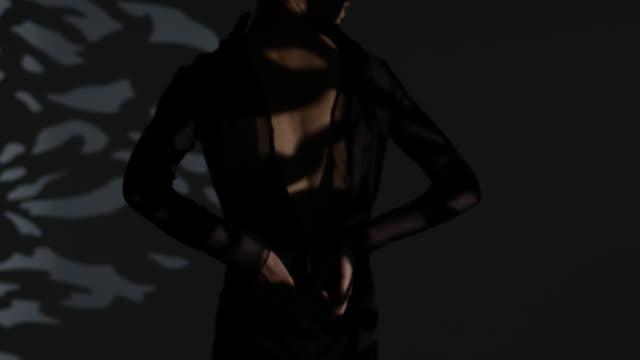 Fashion shooting in film studio
