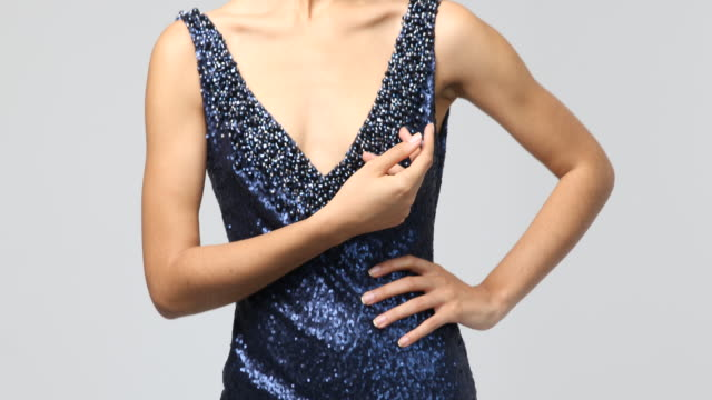 fashion shooting in film studio - evening gown stock videos & royalty-free footage