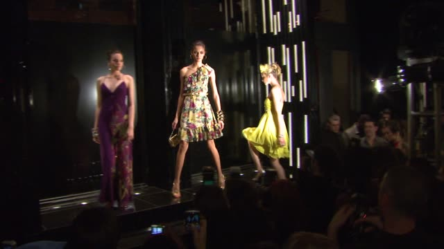 fashion show at the karen millen england flagship boutique launch and fashion show hosted by marylouise parker at karen millen england flagship store... - flagship store stock videos and b-roll footage