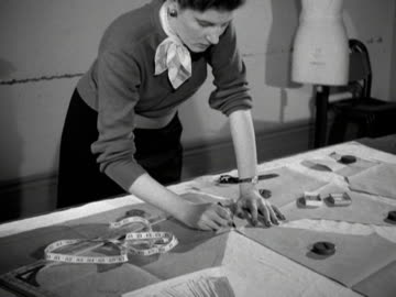 fashion student works on a dress pattern at the royal college of arts. - tape measure stock videos & royalty-free footage