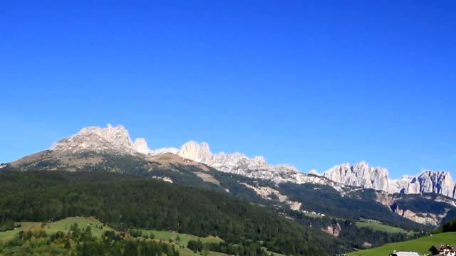 fassa valley landscape in trentino, italy. - val di fassa stock videos and b-roll footage