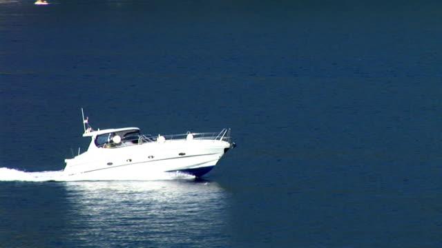 hd: fast boat - adriatic sea stock videos & royalty-free footage