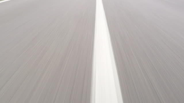 fast car drive on highway - road marking stock videos & royalty-free footage