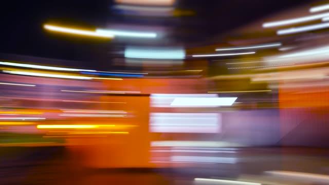 pov : fast city drive night road - street light stock videos & royalty-free footage