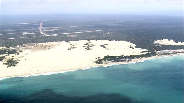 Snelle vlucht langs Alexandrië Beach - luchtfoto - Eastern Cape, Nelson Mandela Bay grootstedelijke gemeente, Nelson Mandela Bay, Zuid-Afrika
