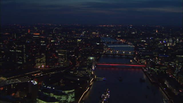 Fast Flight Down The Thames At Night