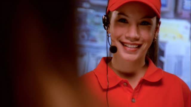 fast food cashier - fast food restaurant stock videos & royalty-free footage